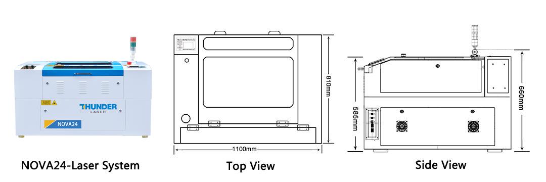nova24 size laser cutter