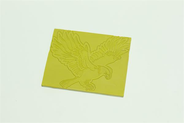 Rubber laser engraver