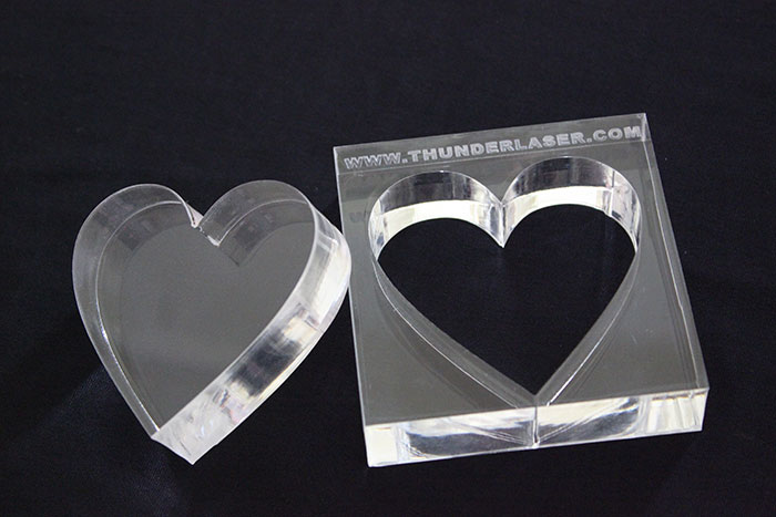 Acrylic heart laser cutter