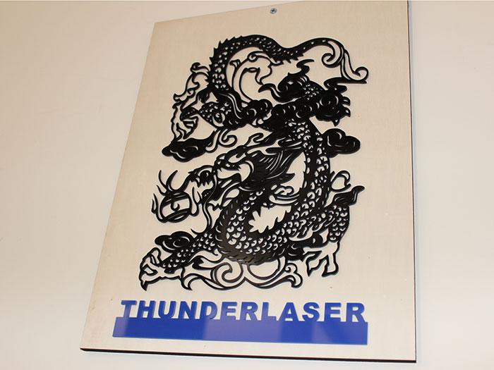 Acrylic Dragon laser cutter