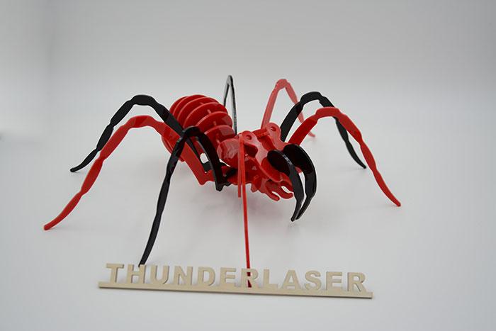 Acrylic spaider laser cutter