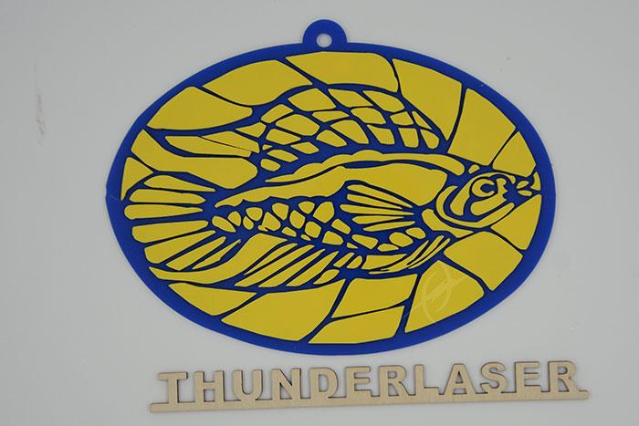 Acrylic fish laser cutter