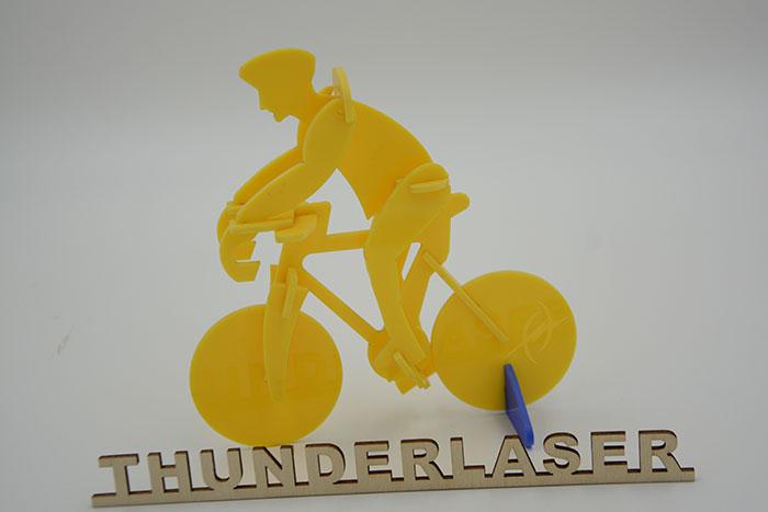 Acrylic ride a bike laser cutter
