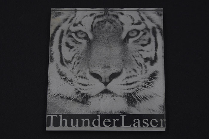 Acrylic tiger laser cutter