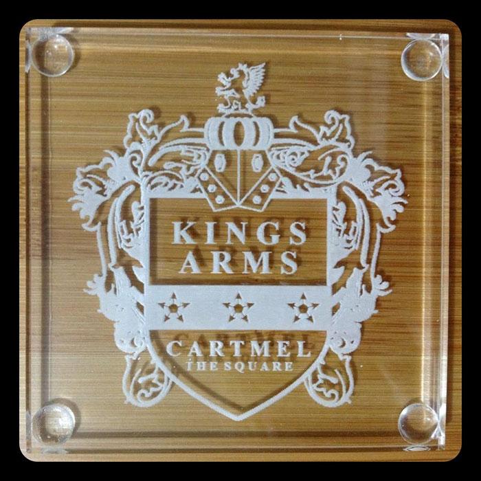 Acrylic kingsarms laser cutter