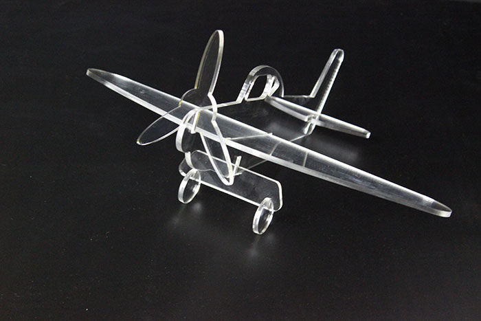 Acrylic airplane laser cutter