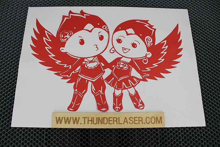 paper laser cutter sample photo