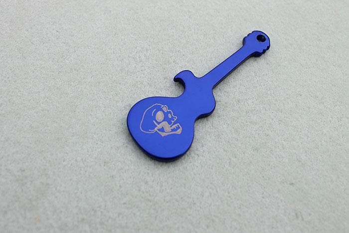 guitar Coated-Metal laser engraver