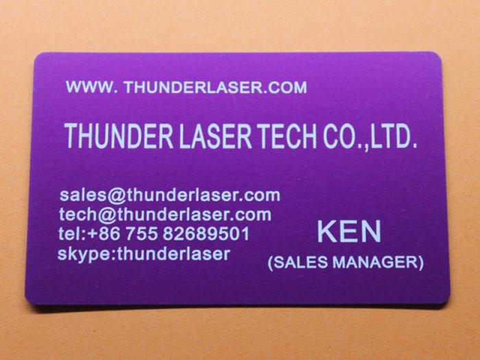 Nameplate Coated-Metal laser engraver