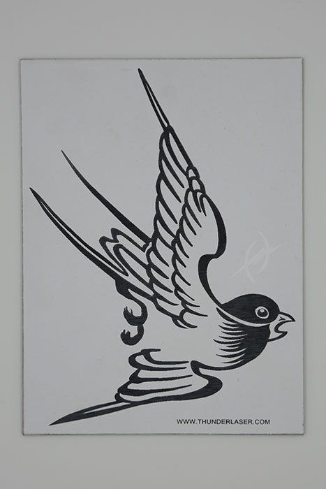 bird Double-Color-Abs laser engraver
