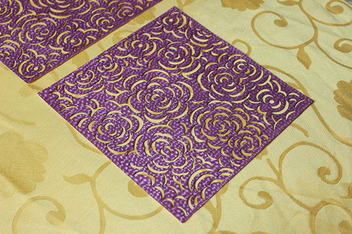 purple Fabric-Leather laser cutter