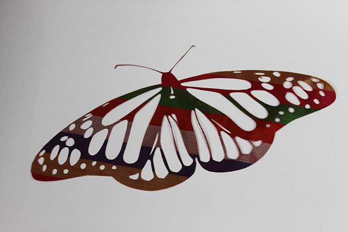 butterfly Fabric-Leather laser cutter
