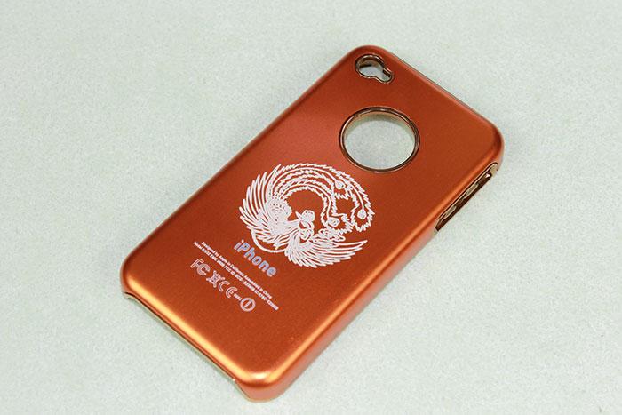 Orange Mobile-Phone laser engraver