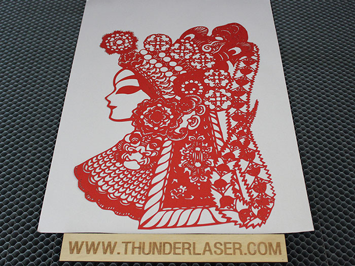 red people Paper laser cutter