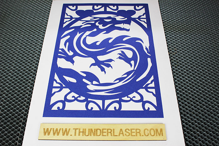 blue dragon Paper laser cutter
