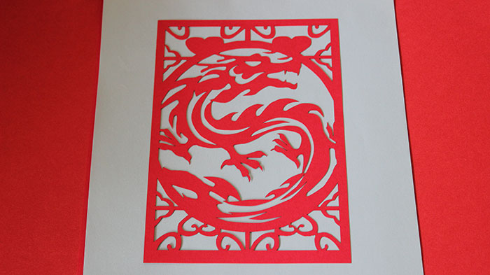 red dragon Paper laser cutter