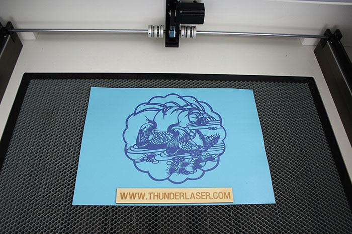 mandarin duck Paper laser cutter