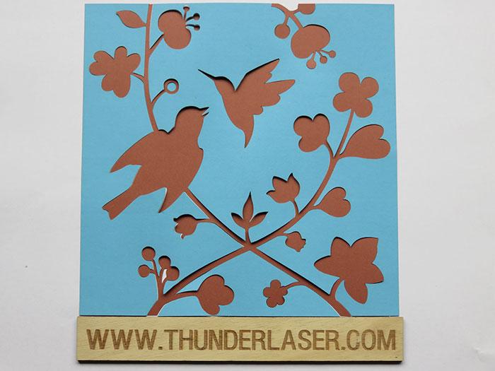 bird Paper laser cutter