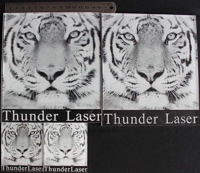 tiger photo laser engraver