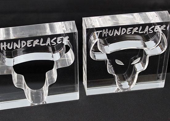 Acrylic cow head laser cutter