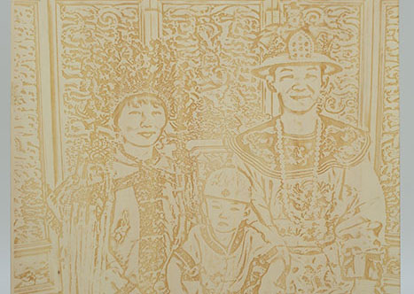 wood Costume laser engraver