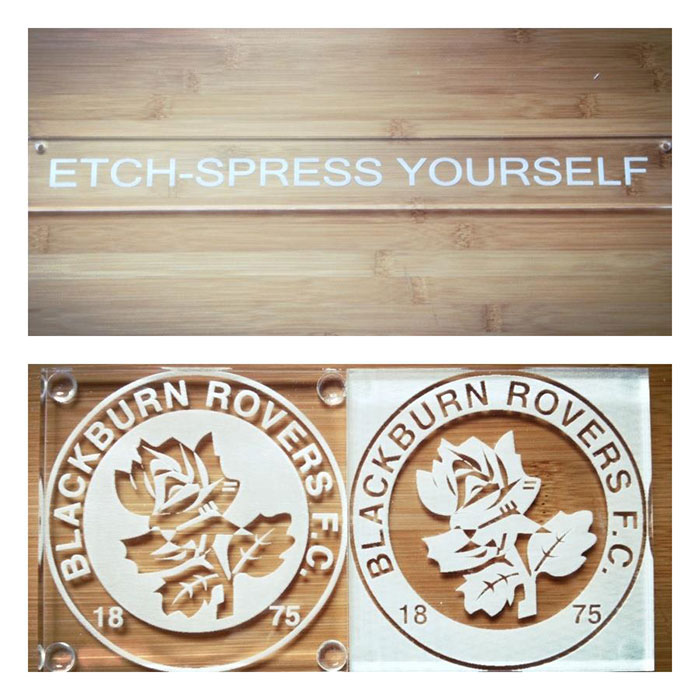 ETCH Signage-photo laser cutter