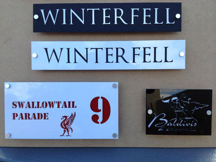 winter fell Signage-photo laser cutter