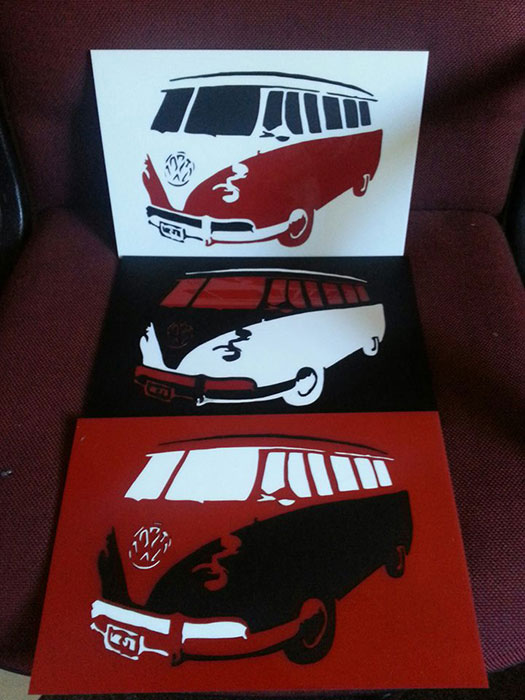 bus Signage-photo laser cutter