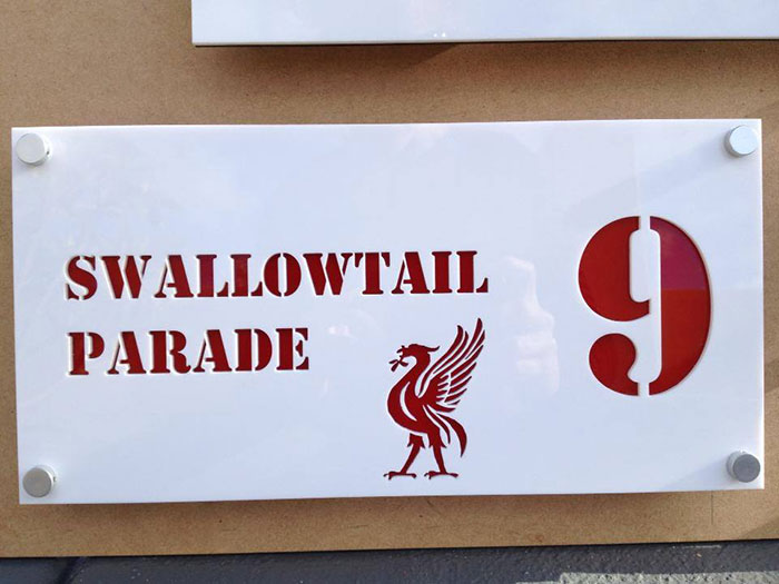 swallowtail Signage-photo laser cutter