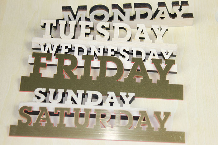 sunday Signage-photo laser cutter