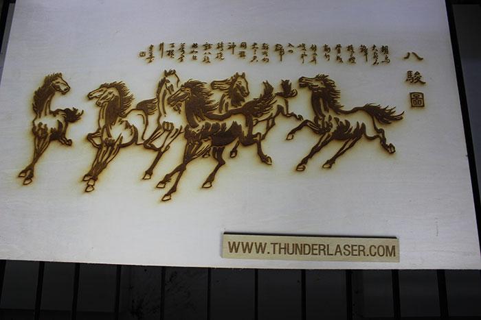 wood horse laser cutter