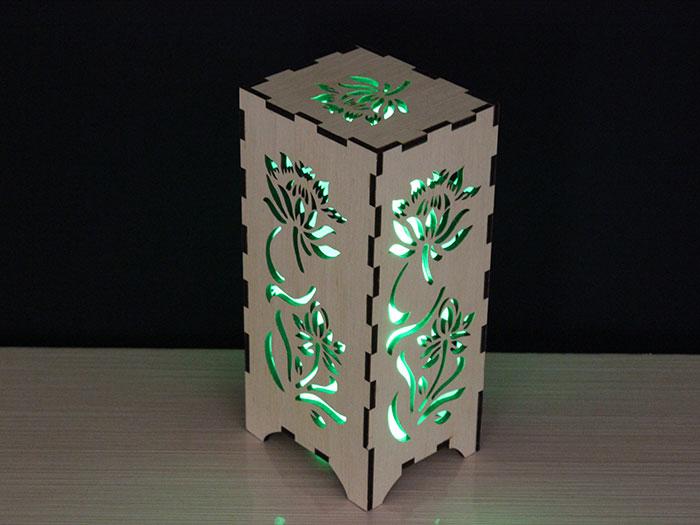 wood Light box laser cutter