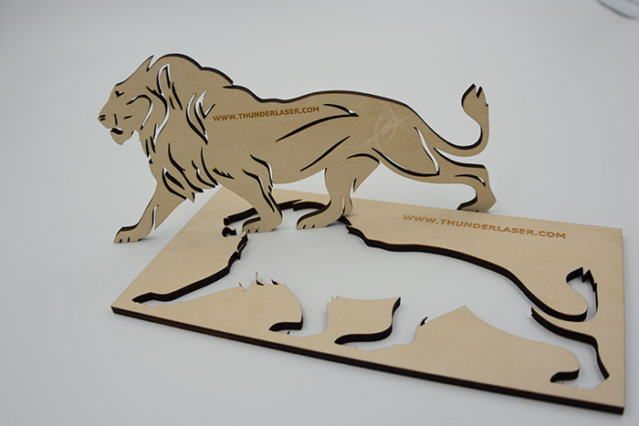 wood lion laser cutter