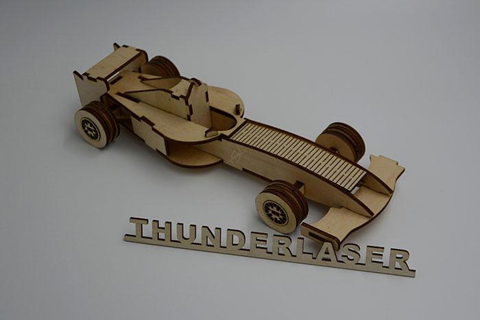 wood Racing car laser cutter