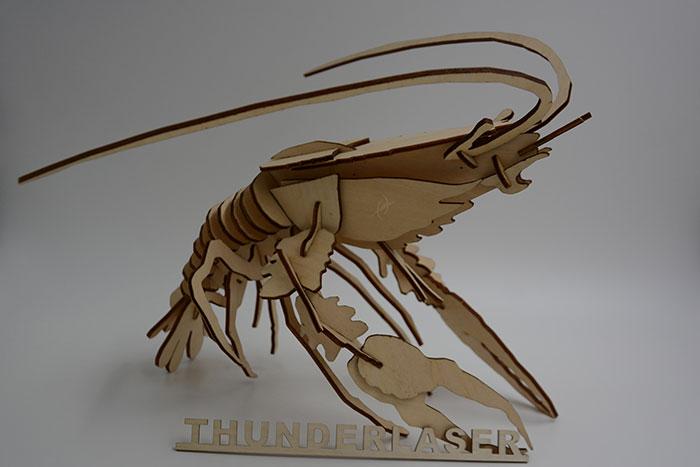 wood shrimp laser cutter