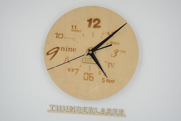 wood clock laser cutter
