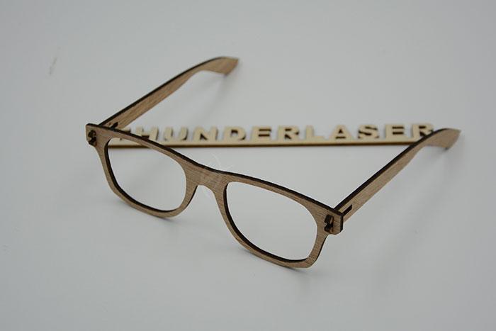 wood glasses laser cutter